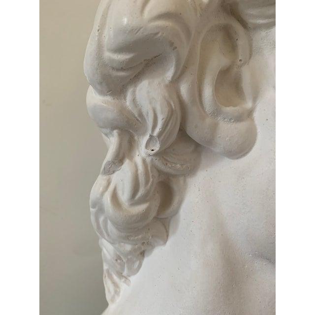 1990s Plaster Bust of David Sculpture For Sale - Image 10 of 12