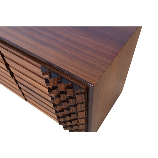 Brutalist Luciano Frigerio Chest of Drawers in Walnut For Sale - Image 3 of 12