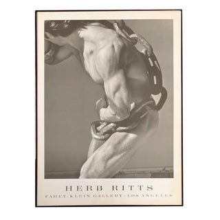 Herb Ritts Framed Exhibition Poster For Sale