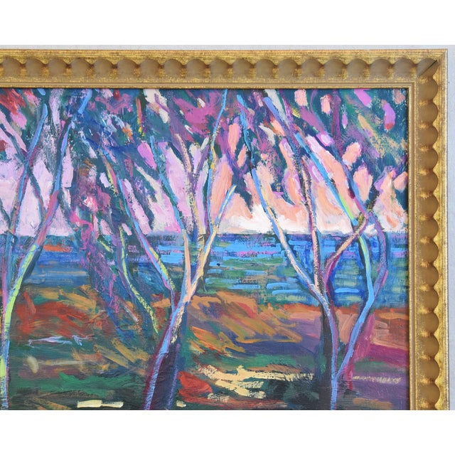 Santa Barbara California Impressionist Landscape Seascape Painting by Juan Guzman For Sale - Image 4 of 9