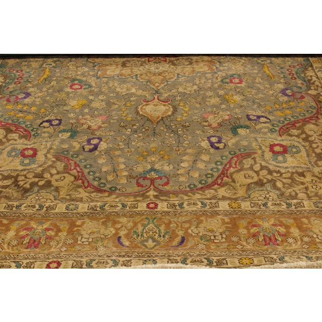 Islamic Vintage Distressed Color Reform Sylvester Gray/Brown Wool Rug - 9'9 X 12'10 For Sale - Image 3 of 8