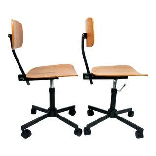 Rabami Danish Teak Kevi Desk Chairs - A Pair