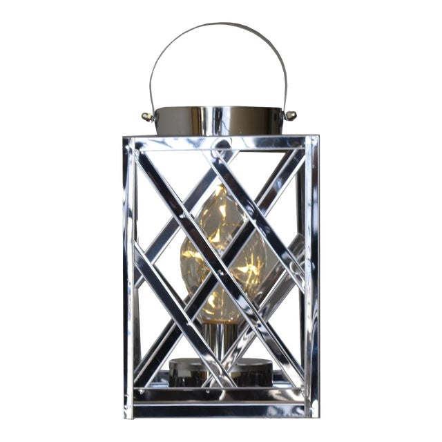 Lantern Led Silver Cube For Sale