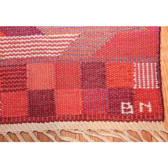 Vintage Marta Maas Scandinavian Geometric Rug by Barbro Nilsson - 6′3″ × 8′2″ For Sale - Image 9 of 11