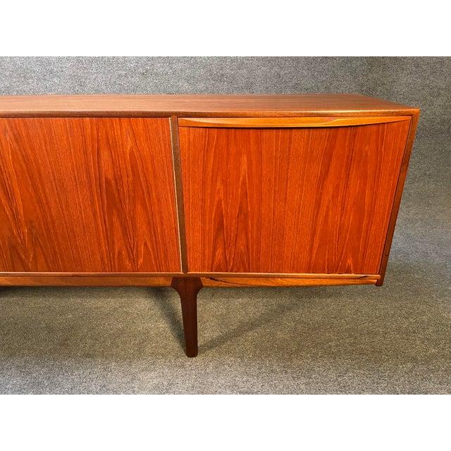 "Vintage British Mid Century Modern Teak ""Dunottar"" Credenza by McIntosh For Sale - Image 4 of 12"