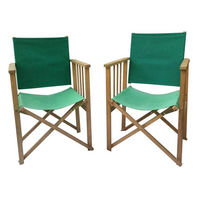 Vintage Hyllinge Mobler Director's Chairs - Pair For Sale