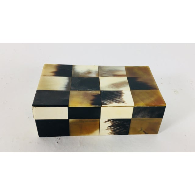 Contemporary Patchwork Bone Dresser Box For Sale In Philadelphia - Image 6 of 7