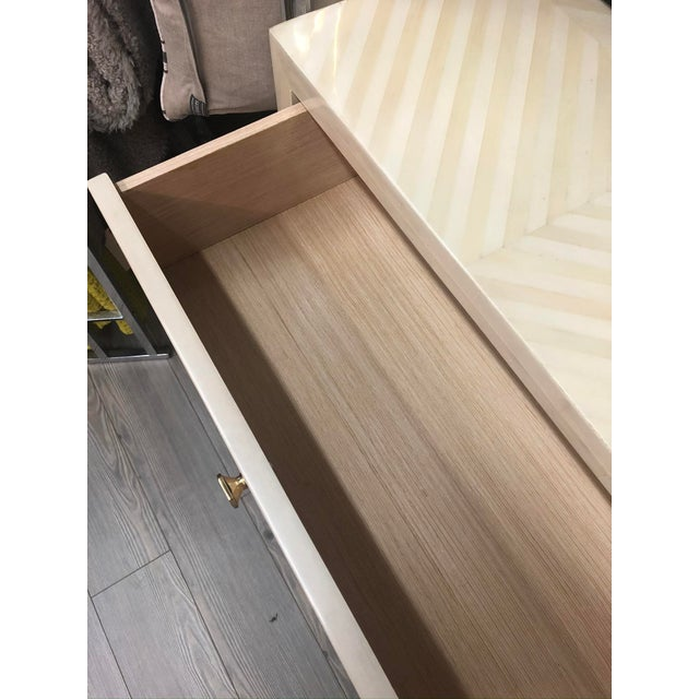 Made Goods Faux Horn Three Drawer Dresser in Ivory For Sale In Los Angeles - Image 6 of 11
