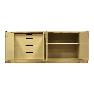 Mastercraft Cream and Brass Credenza For Sale
