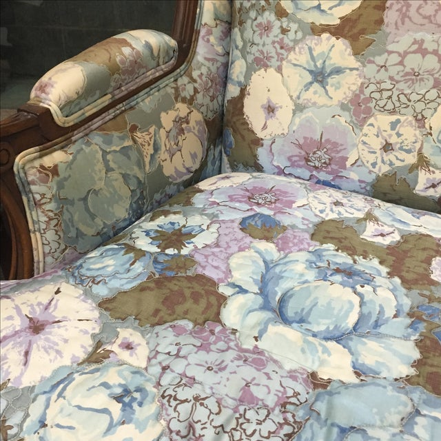 Large Peonies Upholstered Chairs - A Pair - Image 9 of 10