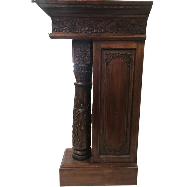 English English Carved Mahogany Fireplace Mantel For Sale - Image 3 of 5