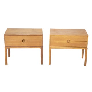 A Pair of Danish Oak Night Stands Designed by Aksel Kjersgaard For Sale