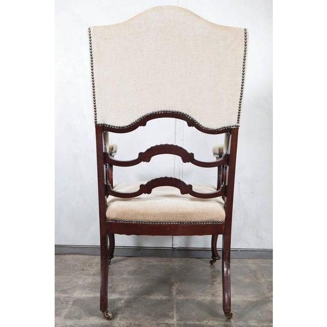 Mahogany Wingback Armchair - Image 2 of 6