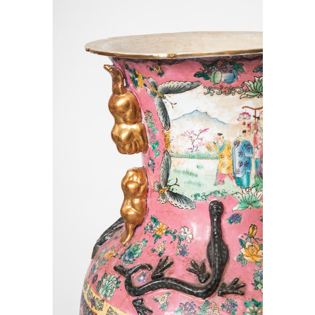 1940s Large Antique Chinese Vases for the Floor Modern Decor Decorative Living Room For Sale - Image 5 of 7
