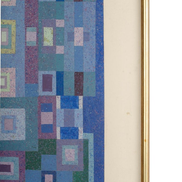 """Mid 20th Century """"Blue Kaleidescope"""" Abstract Oil Painting by Hans Kline, Framed For Sale In Philadelphia - Image 6 of 10"""