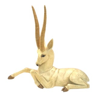 Lifesize Modern Gazelle Papier-Mâché Sculpture Sermel Tonala For Sale