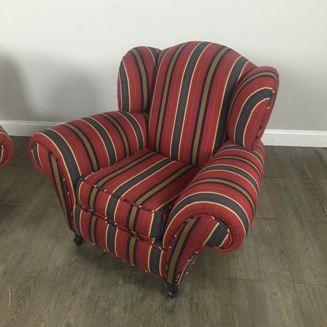 Kravet Club Chairs - A Pair - Image 4 of 11