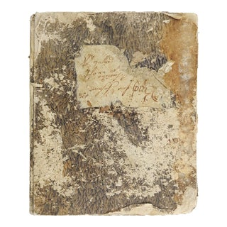 1845 Work Book Early New Braunfels Texas Settler & Brewer For Sale
