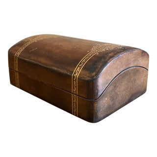 Vintage Italian Leather Box For Sale