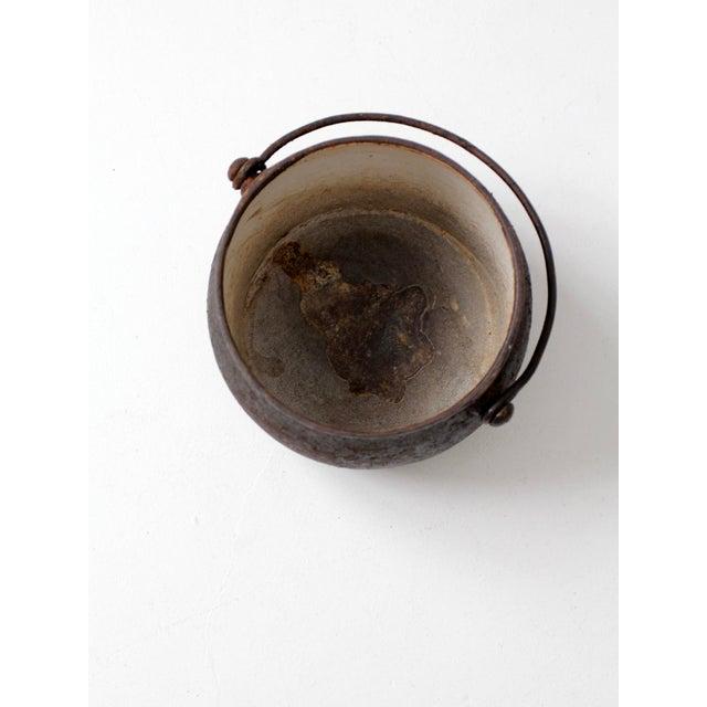 Antique Cast Iron Pot For Sale - Image 9 of 9
