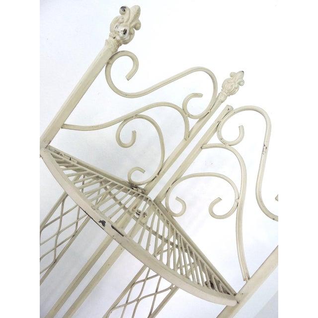 Cast Iron Folding Four Tiered Corner Shelf Unit - Étagère For Sale - Image 4 of 6