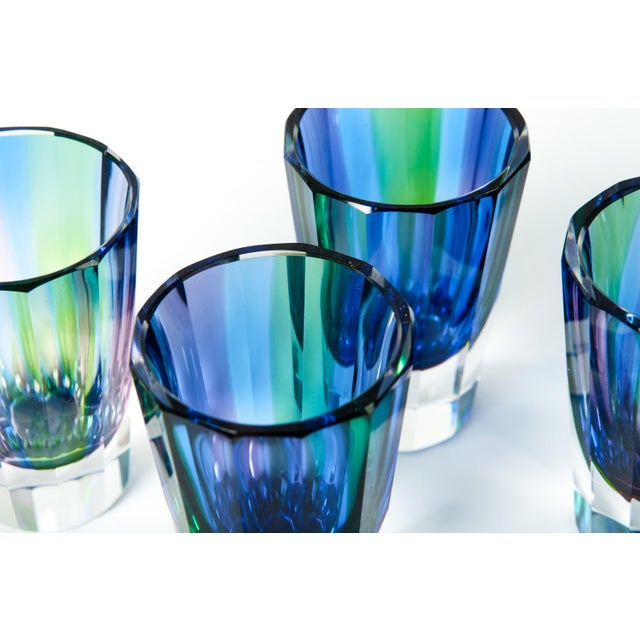 Daum Mid 20th Century Cut Crystal Liqueur Decanter Set - Set of 7 For Sale - Image 4 of 5
