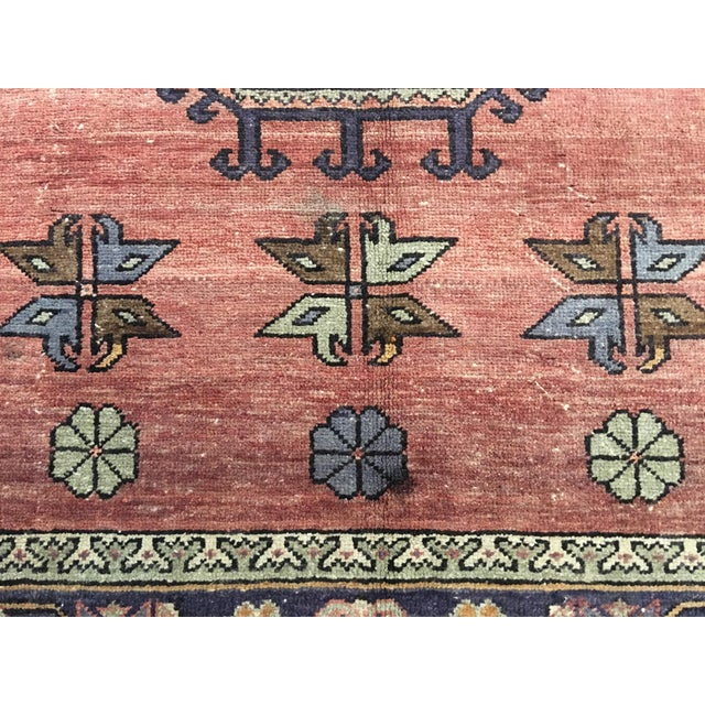 "Vintage Turkish Oushak Runner - 4'4""x9'11"" - Image 4 of 10"