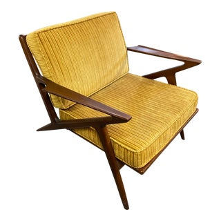 1950s Mid-Century Modern Poul Jensen for Selig Z Lounge Chair For Sale