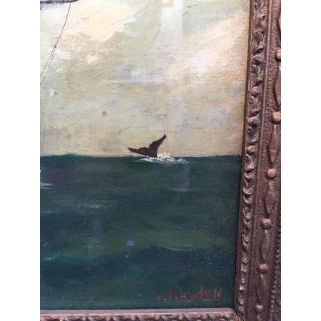 Vintage American Sailboat Painting - Image 5 of 8