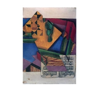 "Juan Gris Das Notenblatt 35.5"" X 27.5"" Poster 1995 Cubism Multicolor For Sale"