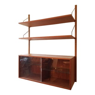 1960s Danish Modern Wall Unit For Sale