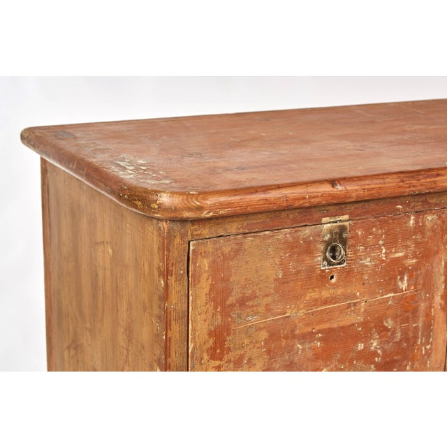 Shabby Chic 1880s English Pigeon Hole Cabinet With Drop-Down Doors For Sale - Image 3 of 9