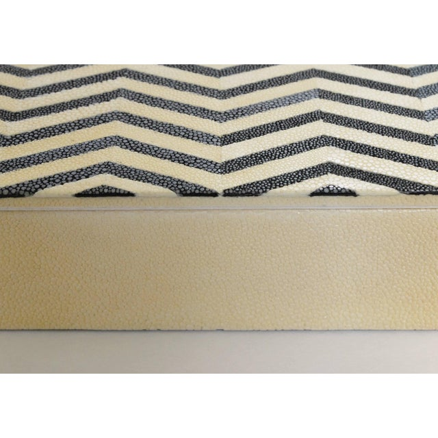 Asian Ivory and Black Shagreen Box by Fabio Ltd For Sale - Image 3 of 7