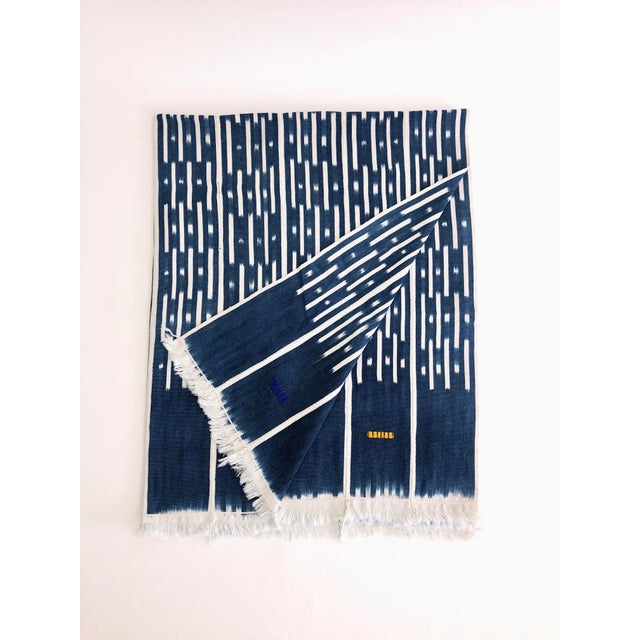 Boho Chic Vintage African Baule Textile Throw For Sale - Image 3 of 3