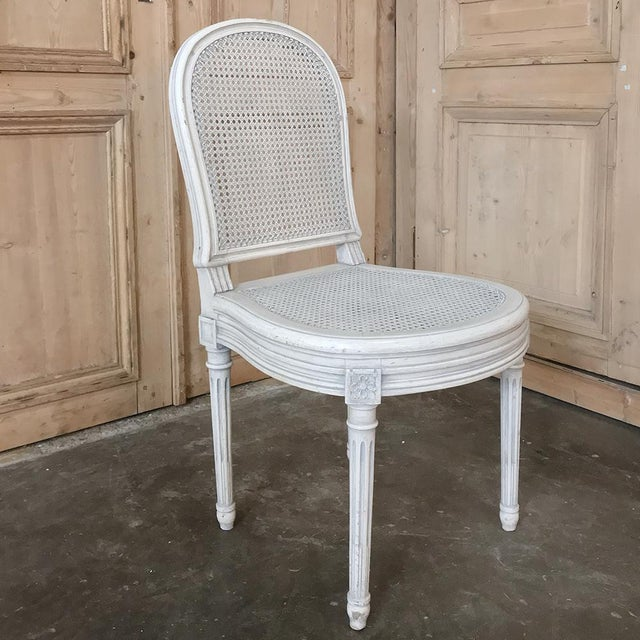 Early 20th Century Antique French Louis XVI Painted Dining Chairs-Set of 8 For Sale - Image 11 of 13