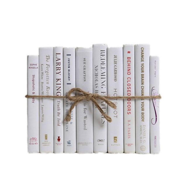 Modern Modern Snowfall ColorPak - Decorative Books in Shades of White For Sale - Image 3 of 3