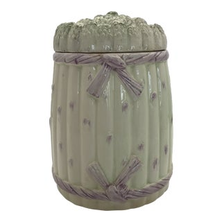 1960s Italian Ceramic Asparagus Container For Sale