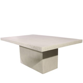 Cast Resin 'Slab' Dining Table, Aged Finish by Zachary A. Design For Sale