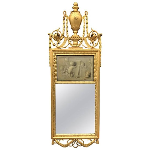 18th Century Neoclassical Mirror With Signed Grisaille by Jacob De Wit For Sale In Boston - Image 6 of 6