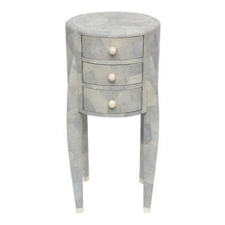Shagreen Pale Gray Chest of Drawers by Maitland-Smith For Sale