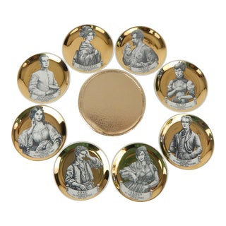 Fornasetti Melodrama Coasters, Set of 8 For Sale