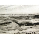 Image of Robert Frary Modernist Seascape Watercolor For Sale