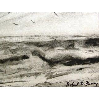 Robert Frary Modernist Seascape Watercolor
