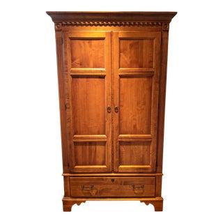 Ethan Allen Cherrywood Wardrobe Armoire For Sale