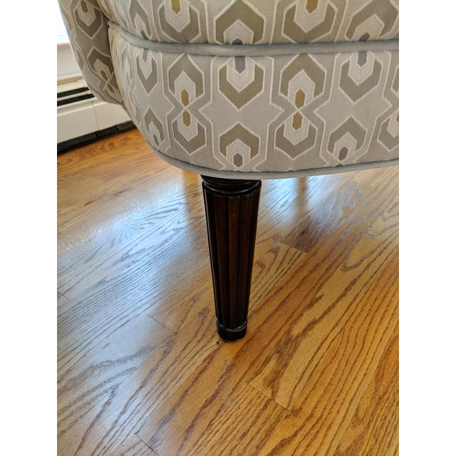 Fabric Art Deco-Inspired Accent Chairs by Thomasville - A Pair For Sale - Image 7 of 11