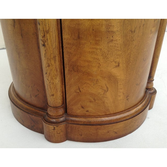 Vintage Regency Style Columned Round End Table - Image 5 of 10