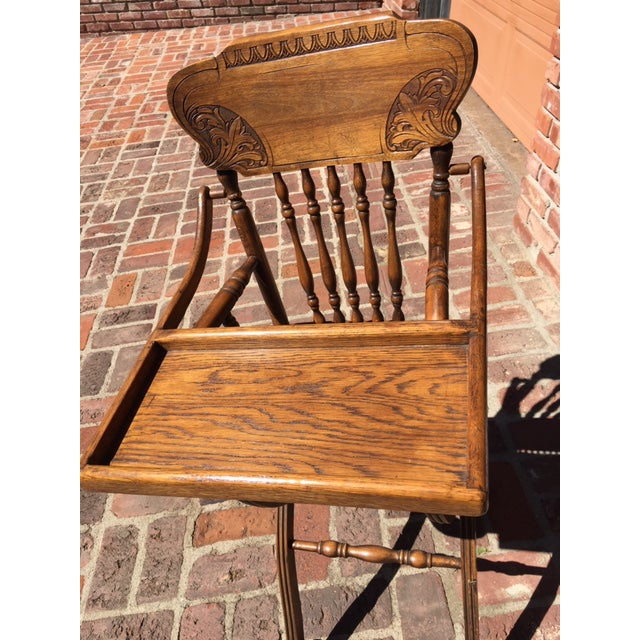 Vintage Antique Oak High Chair For Sale. This chair has been in our family  for 40 years. We did NOT use it - Vintage Antique Oak High Chair Chairish