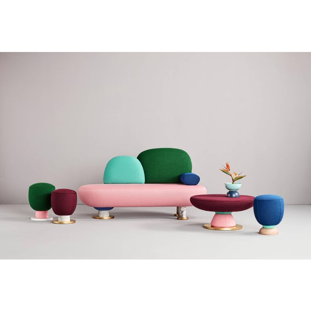Toadstool collection ensemble sofa, table and puffs, Masquespacio Made to order fabrics and colors can be chosen. This...