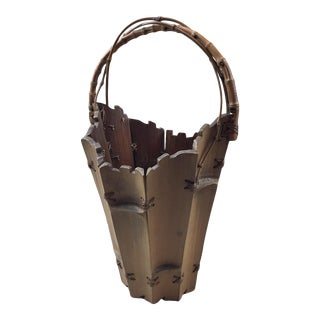 1930s Japanese Hanekago Basket Bamboo Early- For Sale