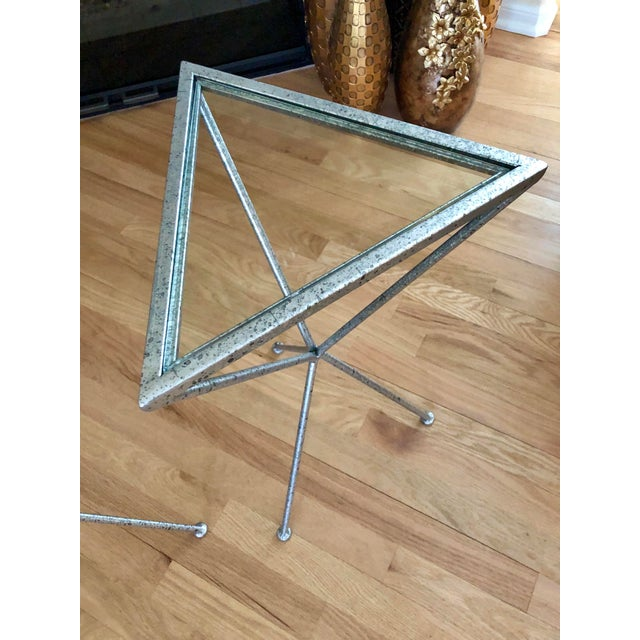 Uttermost Modern Iron & Tempered Glass Tripod Accent Tables - a Pair For Sale In Kansas City - Image 6 of 13